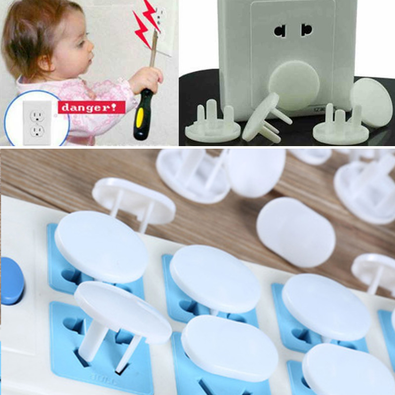 20Pcs/Lot Protection Security Child Electric Socket Outlet Plug Two Phase Safe Lock Cover Baby Kids Safety