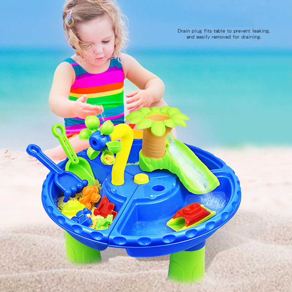 22Pcs Detachable Sandglass Play Garden Multipurpose Digging Pit Seaside Sand Table Water Colorful Summer Beach Toy Set Kids Gift
