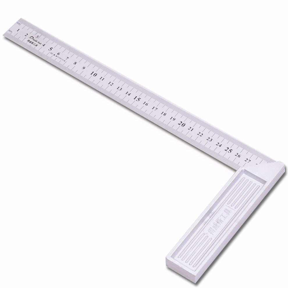 To At Square Party Ruler Aluminium Alloy Square Esquadro Steel Ruler Measuring Ruler Woodworking Decoration Stainless Steel Plat