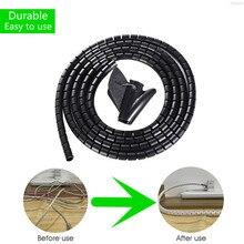 1.5/2M Kabel Organizer Wire Wrap Flexible Spirale Management Wickler Kabel PC TV Kabel Zubehör Lagerung Rohr