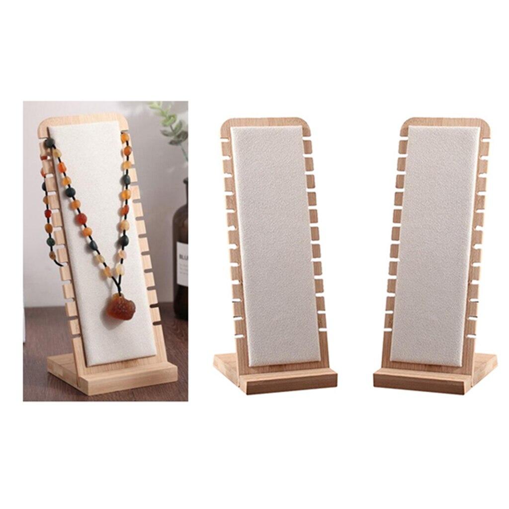 2x exibição de jóias titular jóias organizador colar armazenamento titular 27x10cm
