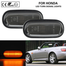 2xSmoked LED side marker lamp turn signal light for Honda S2000 Accord Civic Prelude CRX Fit swivel neck thermostat cooling component housing radiator hose for acura honda civic k20 k24 k swap