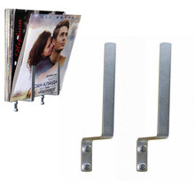 Holds Wall-Storage-Rack Magazine/book Singles-Stand Aluminum Approx-25-Records LP 1-Pair