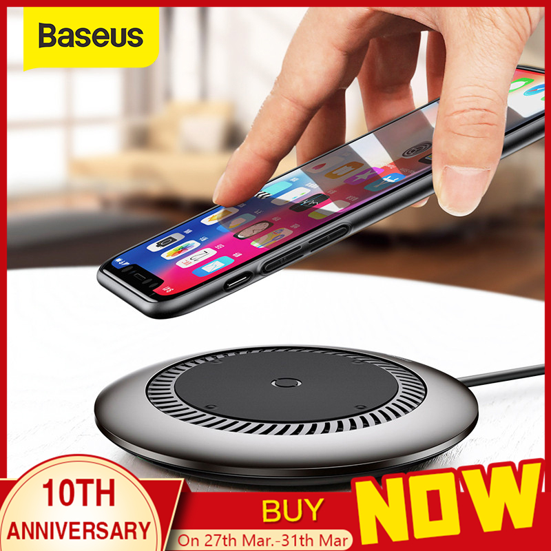 Baseus 10W Qi Wireless Charger For IPhone X XS MAX XR 8 Plus Fast Wireless Charging Pad For Samsung Galaxy S8 S9 S10
