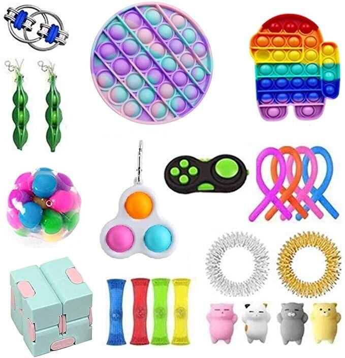 1 комплект беспокойная игрушка по дешевым ценам сенсорная Непоседа упаковка игрушек для детей и взрослых надувные игрушки fidjets упаковка игр...