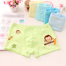 4ps Boys Underwear Cotton Flat Horn Childrens Four-angle Shorts Tobani