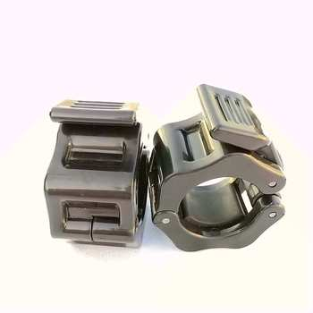 1 Pair 25mm 30mm Spinlock Collars Barbell Collar Lock Dumbell Clips Clamp Weight lifting Bar Gym Dumbbell Fitness Body Building 4