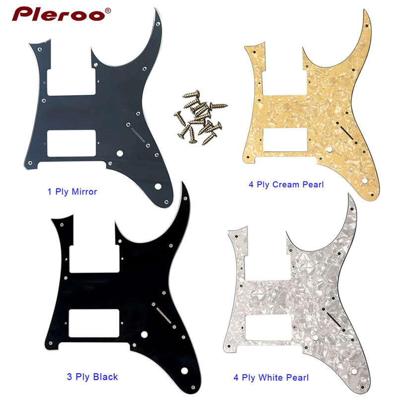 Pleroo Custom Electric Guitar Parts - For Ibanez MIJ RG3550MZ Guitar Pickguard HH Humbucker Pickup Scratch Plate Multiple Colo