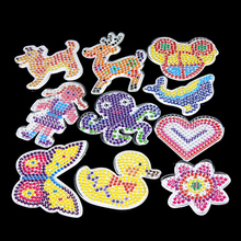 10 patrones de rompecabezas de pc con papel de colores para 5mm Hama Per Beads DIY niños manualidades plástico plantilla para niños fusible de Juguetes