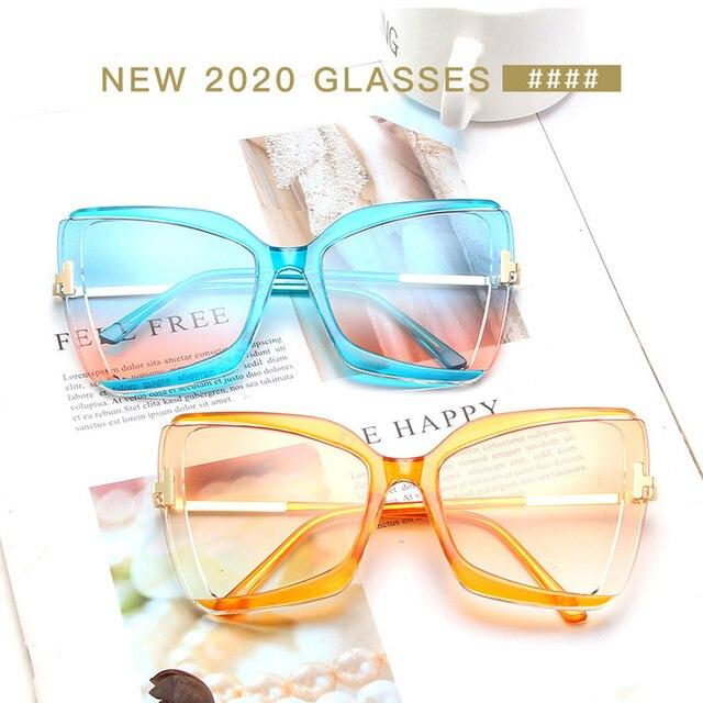 Купить 2020 большие солнцезащитные очки «кошачий глаз» женские новые картинки цена