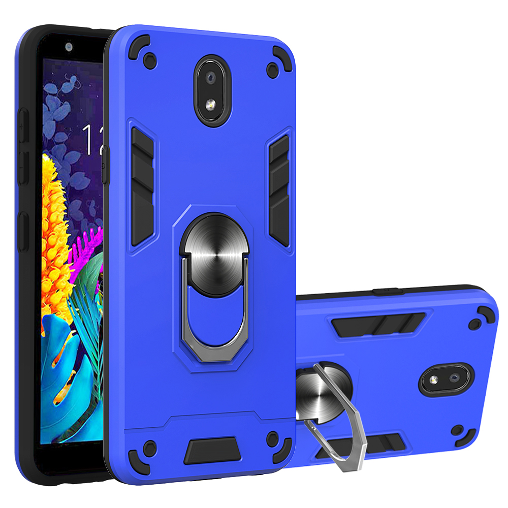 With Finger Ring Kickstand Anti Fall Shockproof Protective Armor Phone Case For LG V60 Thinq 5G K40 K50 G8X V50S K30 2019 Cover