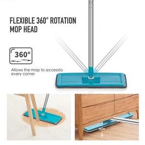 Image 5 - Düz sıkma paspas ve kova el ücretsiz sıkma zemin temizlik paspası mikrofiber paspas pedleri islak veya kuru kullanım parke laminat karo