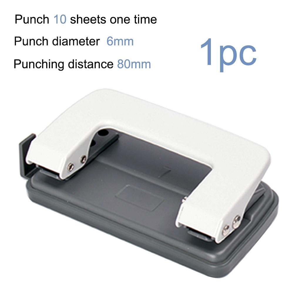 2 отверстия бумажный Дырокол машина DIY необходимые аксессуары для печати бумажный Дырокол ремесло инструмент - Цвет: white