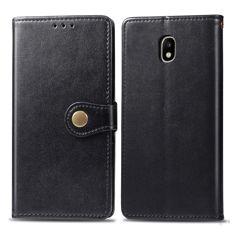 For <font><b>Samsung</b></font> Galaxy <font><b>J3</b></font> <font><b>2017</b></font> Case Leather Phone Case For <font><b>Samsung</b></font> <font><b>J3</b></font> <font><b>2017</b></font> J330F J330 SM-J330F <font><b>J3</b></font> Pro Cases Fundas Flip Wallet Cover image