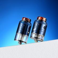 Oryginalny THC Tauren Max RDTA rebuildable atomizer 2ml i 4 5ml pojemność podwójna cewka elektroniczny papierosowy zbiornik do e-papierosa tanie tanio Metal Wymienne 510 thread
