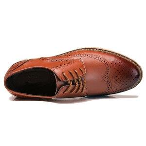Image 4 - קלאסי גברים מבטא אירי נעלי יוקרה בריטי שמלת נעלי עסקים בולוק עור נעליים באיכות גבוהה זכר הנעלה 2019 Dropshipping