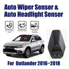 For Misubishi Outlander 2016~2018 Smart Auto Driving Assistant System Car Automatic Rain Wiper Sensors & Headlight R&D Sensor цена