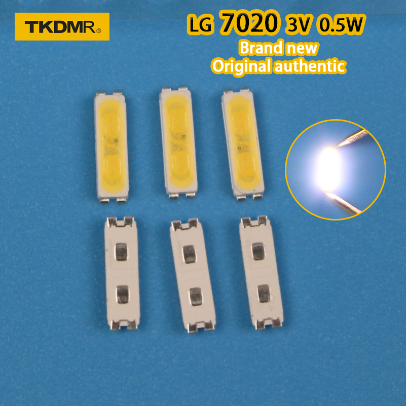 TKDMR 120PCS LG INNOTEDK LED BACKLIGHT 7020 3V 0.5W WHITE COLD 40LM FOR LG TV REPAIR Free Shipping