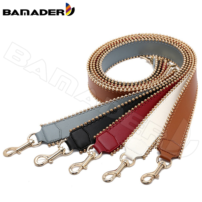 BAMADER Genuine Leather Women Bag Strap High Quality Leather Bag Accessories Fashion Comfortable Wide Shoulder Strap Bag Part