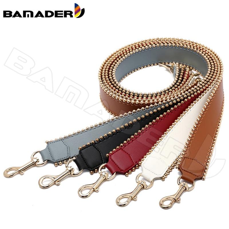 BAMADER Genuine Leather Women Bag Strap High Quality Leather Bag Accessories Fashion Comfortable Wide Shoulder Strap Bag Part