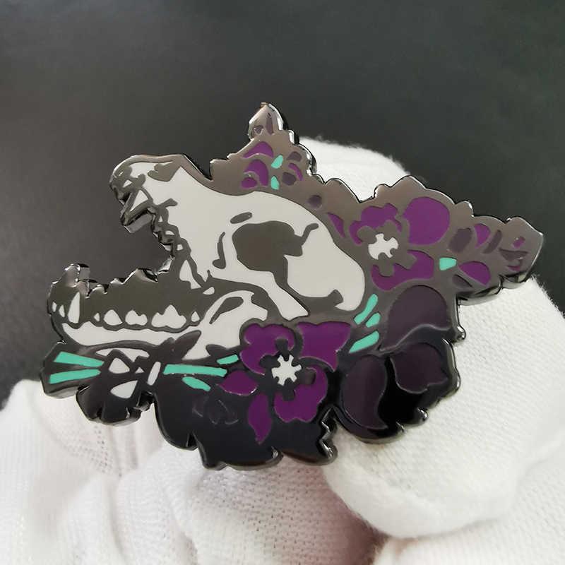 Wolf-Skull MetalEnamel Pin