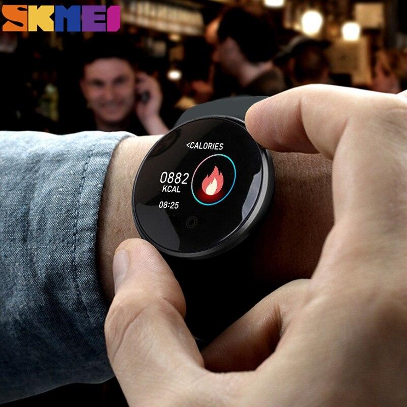 SKMEI Digitale di Sport Degli Uomini Della Vigilanza di Bluetooth della Frequenza Cardiaca Orologi Impermeabili Calorie Passo del GPS Inseguitore di Fitness Orologio Da Polso Reloj B36M - 4