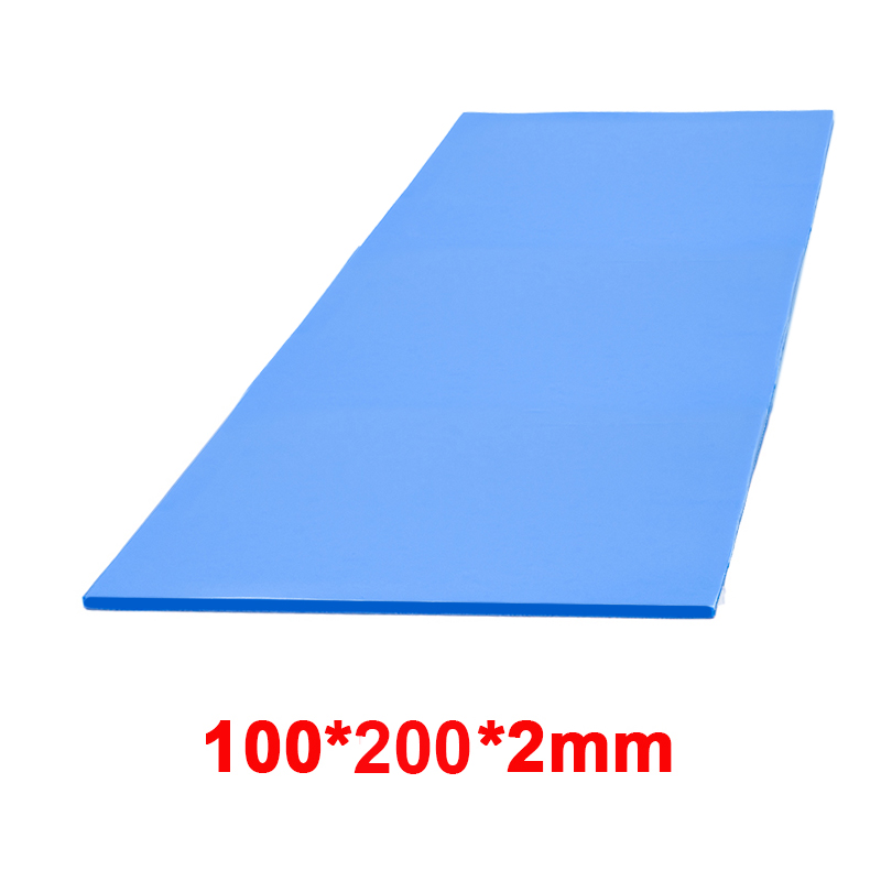 High quality 6.0 W/mK 100*200mm Thermal conductivity CPU Heatsink Cooling Conductive Silicone Pad Thermal Pads 6