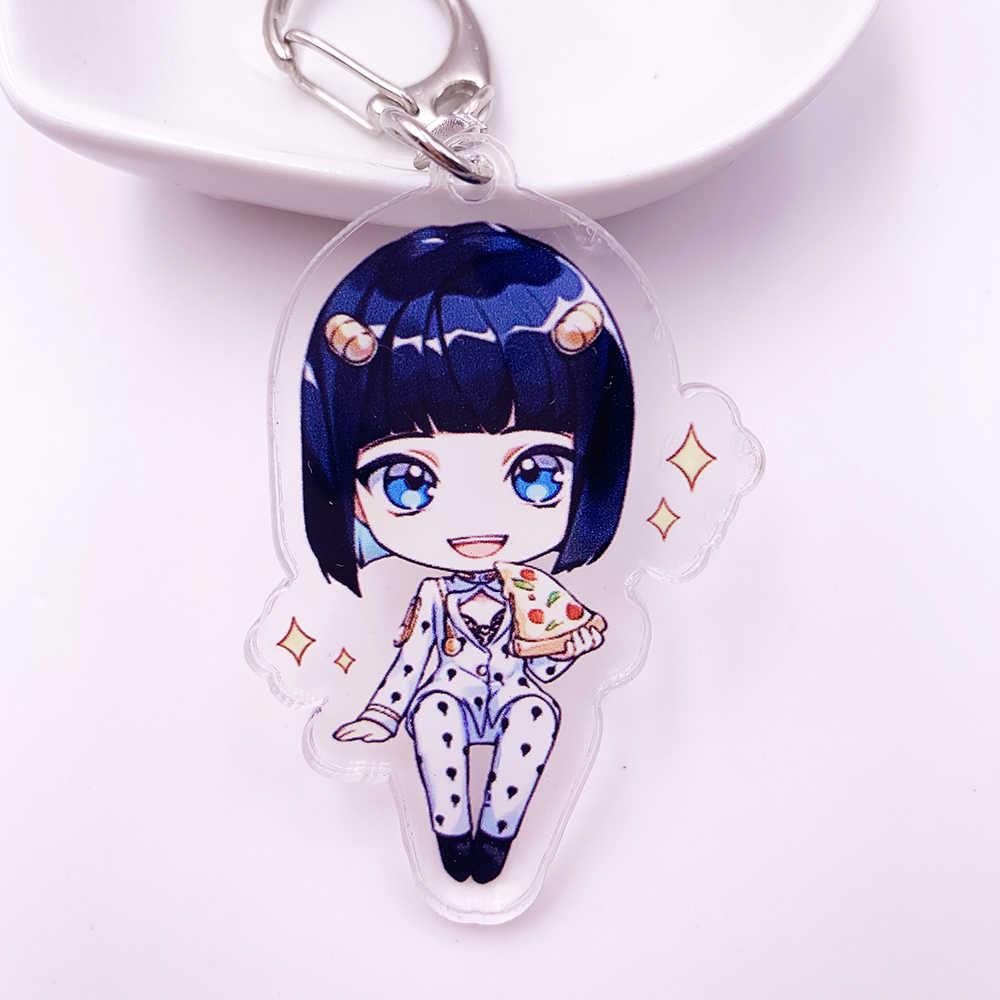 Anime JoJos Bizarre aventure acrylique porte-clés dessin animé Jotaro Kujo Figure porte-clés cadeaux porte-clés pendentif accessoires porte-clés
