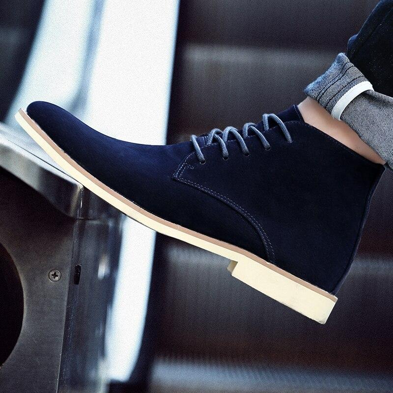 Мужские удобные ботинки на шнуровке, черные, синие или желтые повседневные ботинки, модель 1465 на весну и осень