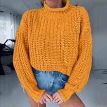 Женский свободный осенний свитер винтажный Вязаный Свитер оверсайз