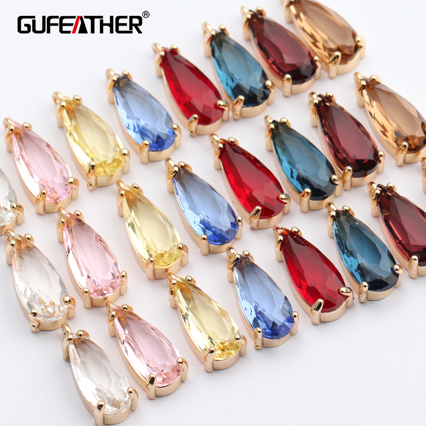 GUFEATHER M627,jewelry Accessories,hand Made,diy Glass Pendant,jump Ring,jewelry Findings,diy Earring,jewelry Making,10pcs/lot