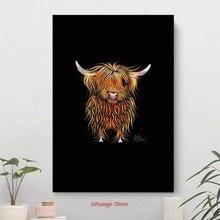 Vaca impressão escocesa highland humphrey arte quadros em tela abstracto quadros para sala de estar cuadros