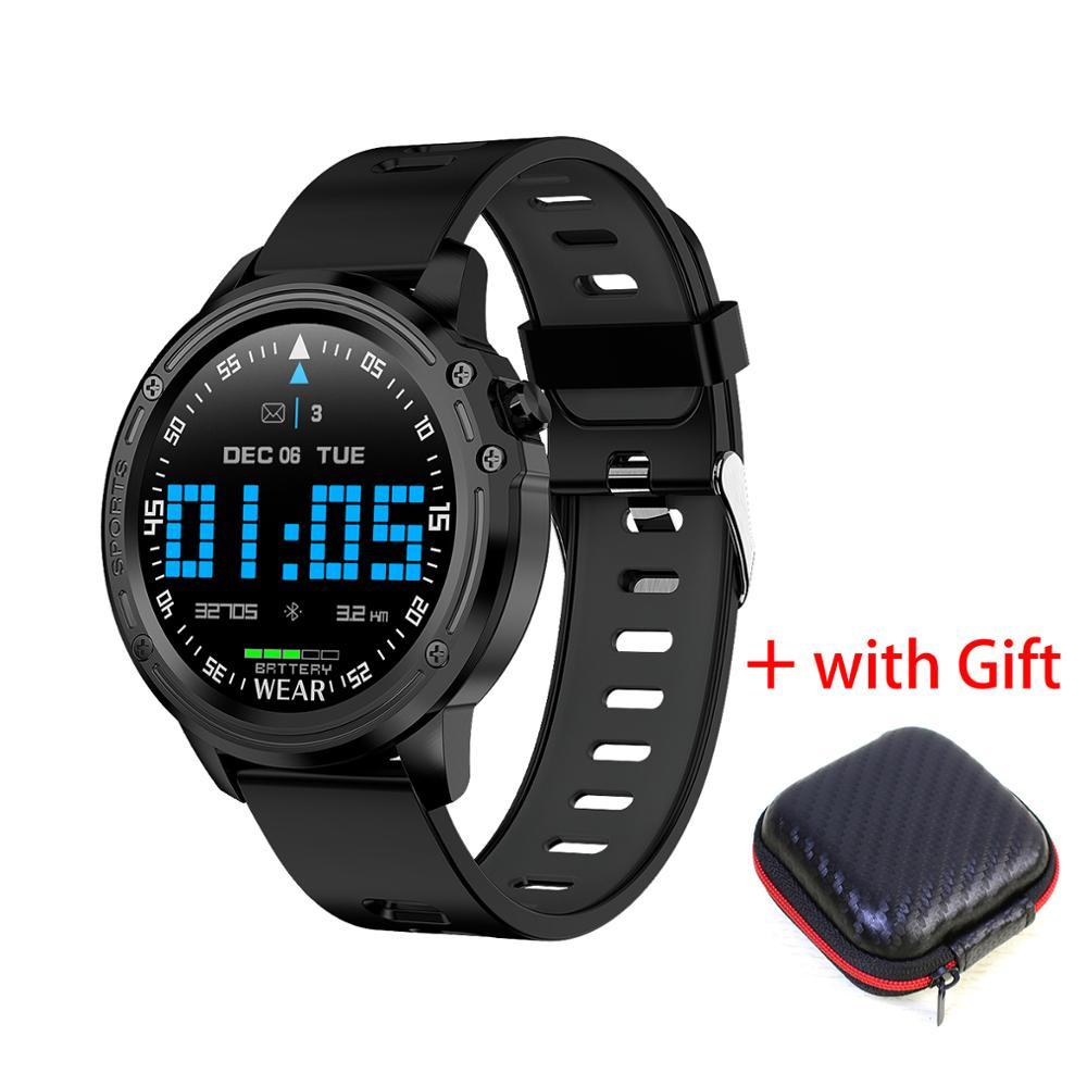L8 montre intelligente IP68 étanche SmartWatch ECG PPG fréquence cardiaque moniteur de pression artérielle Fitness Tracker montre