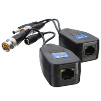 10 Pairs CCTV Coax BNC Video Power Balun Transceiver to CAT5e 6 RJ45 Connector GV99