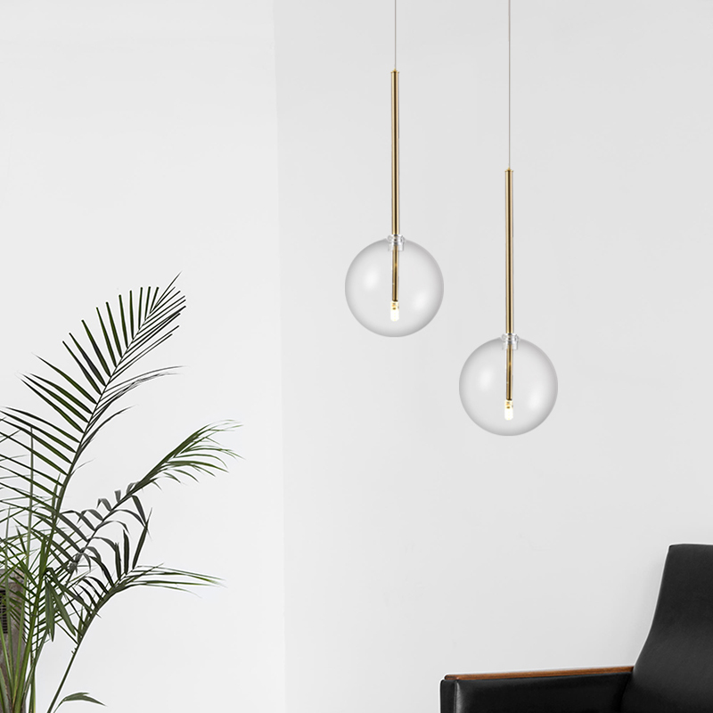 DX Modern Living room/Bedroom/Minimalist/Restaurant Pendant Light Nordic Clothing Decoration Glass Ball Hanging Lights