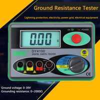 Megohmmeter 0-2000 Digital Earth Tester Ground Resistance Tester Meter Real Digital Tester Digital Earth Ground