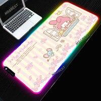 Carino Mousepad Anime Accessori Da Gioco Colorato Incandescente LED RGB e Normale Gomma Desktop PC Pad antiscivolo Resistente per bambini