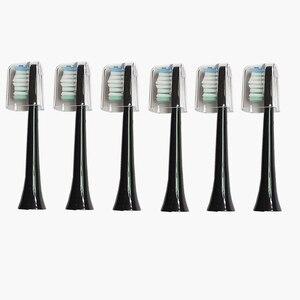 Image 2 - Cabeçote de escova de dentes sarmocare s100/200, 6 peças, ultra sônica, elétrica, fit digoo DG YS11, sem cabeça navio