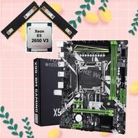 HUANANZHI 할인 마더 보드 M.2 NVMe 슬롯 X99 LGA2011-3 마더 보드 번들 CPU Xeon E5 2650 V3 RAM 32G (2*16G) 2400 DDR4