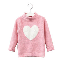 2019 Long Sleeve Baby Girls Sweaters Children Fashion Turtlenecks Knitted Pullovers Spring Children's Clothing Soft Warm Sweater цена