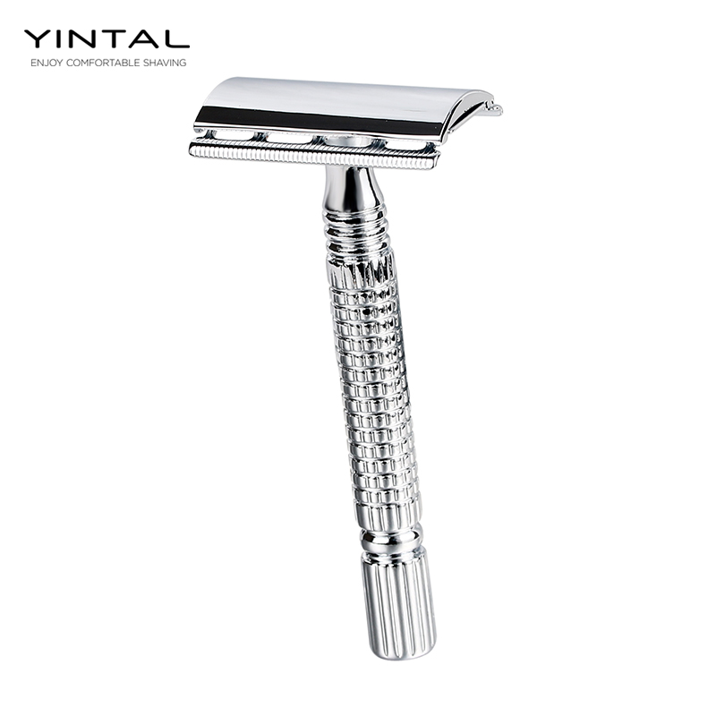 Short Handle Classic Safety Razor Double Edge Mens Shaving  Pack Cure Handle 1 Razor 1 Blade Manual Shavers With Travel Case