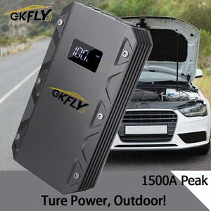 GKFLY High Power 20000mAh Car Jump Starter 12V 1500A Portable Starting Device Power Bank Car Charger For Car Battery Booster LED