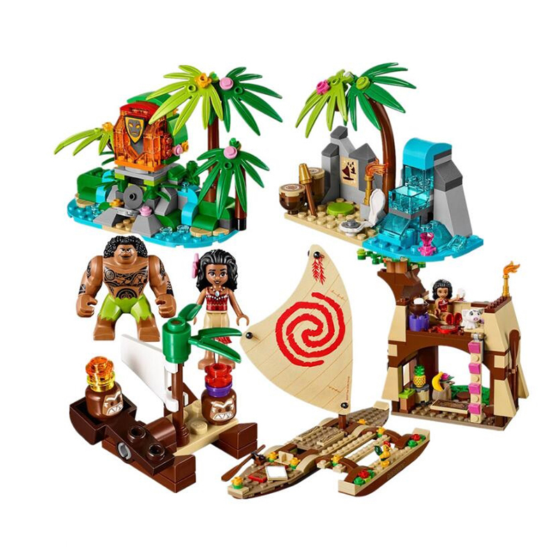 Nouveau Sermoido Moana océan Voyage restaurer le coeur de Te Fiti bloc de construction briques jouets pour enfants Legoinglys noël 41150