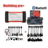 DHL Multidiag Pro+ 2016r0/2015.R3 software For Cars/Trucks OBD2 Scanner diagnostic Scan tool MVD +8pc Car Cables+8pcTruck Cables