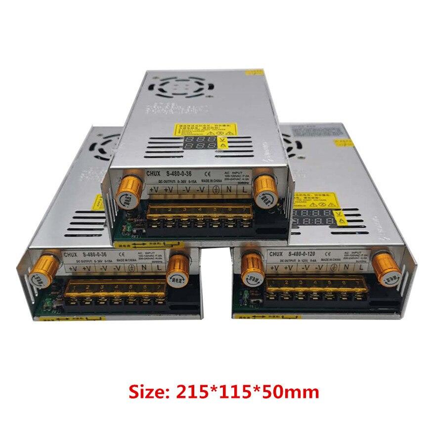 480w Digital display Switching Power Supply 5V12v 24v 36v 48v 60v 160V Adjustable AC-DC Converter 80v 120v 220V LED Power supply-2