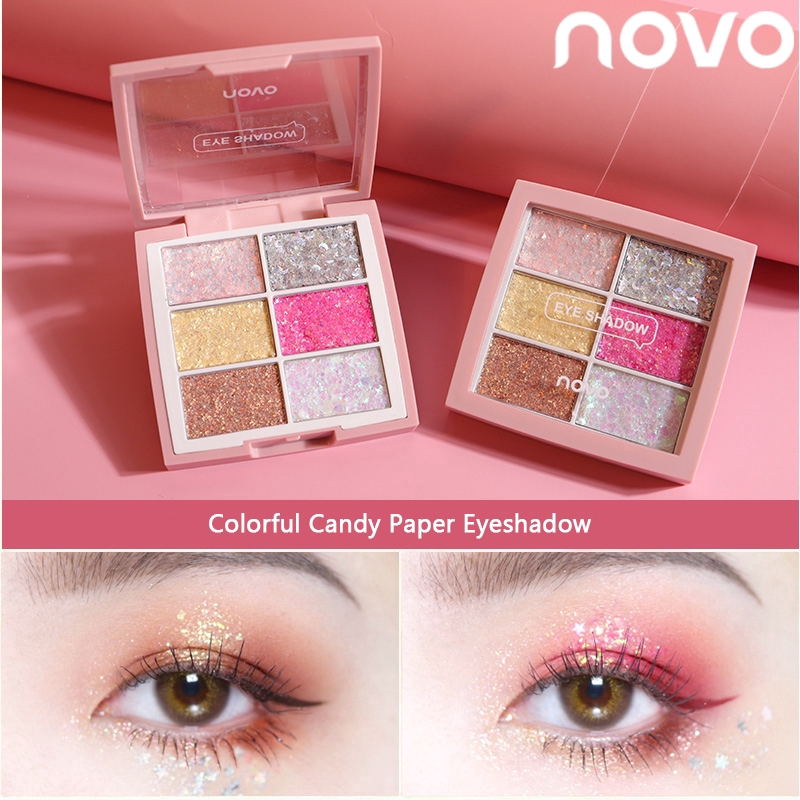 NOVO Glitter Paste Candy Eyeshadow Flash Powder Eye Shadow Waterproof Eye Makeup