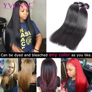 Yvonne brasileiro feixes de cabelo virgem em linha reta 1/3 peça cor natural tecer cabelo humano