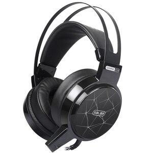 Salar c13 gaming headset com fio pc fones de ouvido estéreo com microfone para computador gamer fone de ouvido 3.5mm