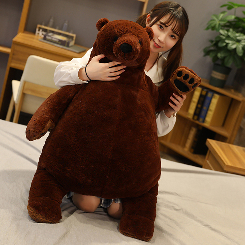 100cm Big Lovely Brown Bear Plush Toys Stuffed Animal Teddy Bear Plush Animal Pillow Soft Cushion Girl Kids Baby Birthday Gift|Stuffed & Plush Animals|   - AliExpress