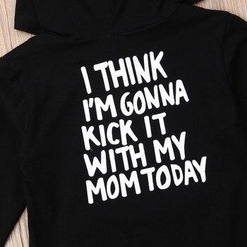 1-6Y Kids Baby Boy Girl Long Sleeve Back Letter Print Hooded Sweatshirt Hoodies Tops Autumn Clothes 6